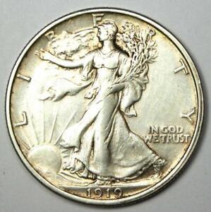 1919 Walking Liberty Half Dollar 50C - Choice XF / AU Details - Rare Date!