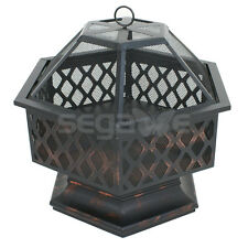 Hex Shaped Fire Pit Outdoor Home Garden Backyard Firepit ... on Zeny 24 Inch Outdoor Hex Shaped Patio Fire Pit Home Garden Backyard Firepit Bowl Fireplace id=58526