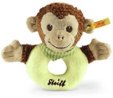 Steiff Jocko Monkey Grip Toy Brown/ Beige/ Green