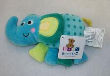 BEVERLY HILLS Teddy Bear Co Plush Bright Multicolor Stuffed Elephant Rattle NWT