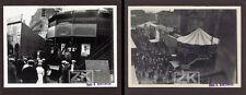 MOTO Mur de la Mort 2 Photos Gnome Rhône Elbeuf 1920s
