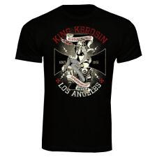 King Kerosin Kustomworld T-Shirt Pin Up Rockabilly Oldschool Tuning Speedshop