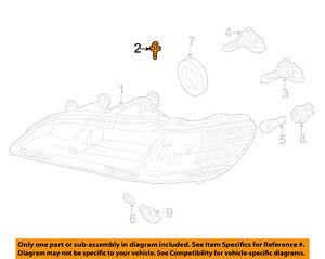 ACURA HONDA OEM Headlamp-Front Lamps-Headlamp Assembly Bolt Left 934050601604