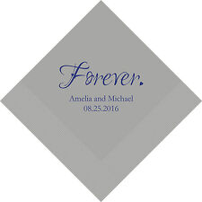 500 Forever Personalized Wedding Luncheon Napkins