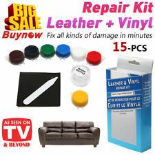No Heat Leather Vinyl Repair Kit Fix Holes Burns Car Boat Seat Rip Gouge