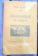 Histoire de l'Orne, René Poisson, éd. E. Romagné 1924, 163 pages