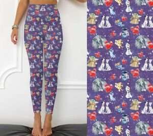 Baby Yoda The Child Stitch Olaf Mouse Ears Women's Leggings TC Plus Size 12-20