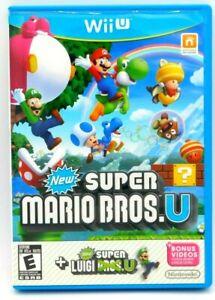 Super Mario Bros. U with Super Luigi U. Nintendo Wii U Video Game