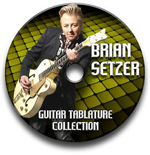 Brian setzer rockabilly rock guitar tabs tablature song book cd