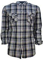 Soul Star New Men's Slim Fit Western Check Long Sleeve Shirt S M L XL XXL