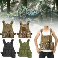 Tactical Vest Military Molle Plate Combat Carrier Paintball Hunting Adjustable
