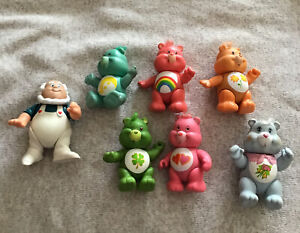 1980s Vintage Collectable toys collectable teddy bears Carebear car and 2 figures.