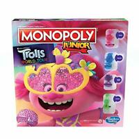 Monopoly Junior, DreamWorks Trolls World Tour Edition Board Game for Children