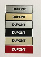 Plaque d'interphone  1 ligne 60 x 15 mm couleur au choix biseautée