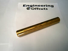 "BRASS 7/8 "" (22.225 Mm) Diametro x 88-102mm lungo offcut CZ121, pezzo ROD BAR END"