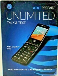AT&T Cingular Flip 2 TCT-4044O Prepaid Flip Cell Phone Easy Use New No Credit ✔