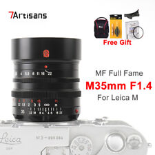 7artisans 35mm F1.4 Full Frame Lens for Leica M Mount M6 M7 M8 M9 Camera Lens US