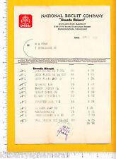 7381 National Biscuit 1926 billhead Uneeda Bakers Burlington, VT Graham Cracker