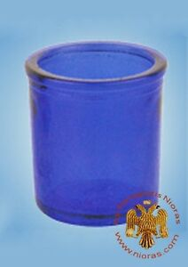 2 PCS Orthodox Vigil Glass Replacement Cup With Cross in the Base