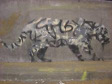 banksy leopard wall decor graffiti A1 SIZE PRINT CANVAS