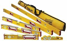 Stabila 78196 Complete 6 Non-Magnetic level set with case and 27ft Tape (New)