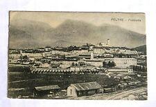 vecchia cartolina FELTRE anno 1917 - viaggiata  treni