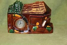 Vintage German Ceramic Water Wheel Mantel Clock