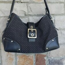 Relic Black Shoulder Bag with Silver Clasp