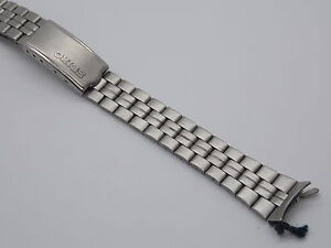 """Stainless Steel Ladies Vintage Seiko Watch Band 13mm 1/2"""" Deployment Clasp NOS"""