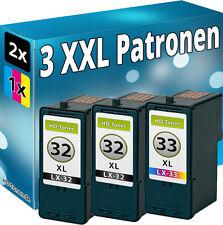 3x TINTE PATRONEN REFILL für LEXMARK 32xl+33xl P6250 P910 P915 P4310 P4330 P4350