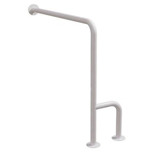 WC Stützgriff für barrierefreies Bad links montierbar weiß 80 cm DN32 mm