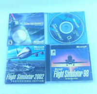 Microsoft Flight Simulator PC Game Lot 98 2002 Combat 2 3 WWII Pacific Europe