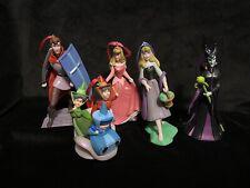 Disney Sleeping Beauty Christmas Ornament set Maleficent Aurora Phillip Fairies