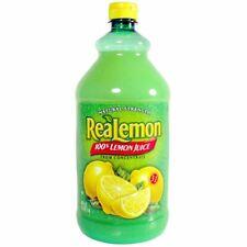Lemon Juice Unsweetened Drink Mixers 48 Oz. Bottles 8/Case New Fresh Lemonade