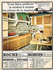 PUBLICITE ADVERTISING 055  1966  ROCHE & BOBOIS   meubles  de cuisine