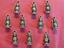 Tibetan Silver Lantern Charm - 10 per pack