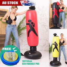 1.6m Kids Adult Inflatable Boxing Punching Bag Kick Training Tumbler Sandbag AU