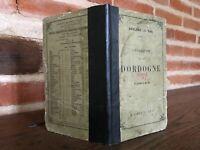 Geografía Dordogne A. Joanne 1881 Hachette 14 Impresión Falta Carta