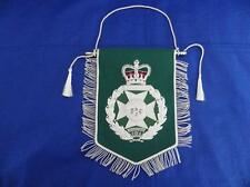 ROYAL GREEN JACKETS ( RGJ ) SILVER BULLION WIRE EMROIDERED PENNANT
