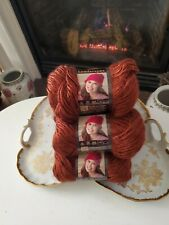 Lion Brand Landscapes Yarn Rust Color Lot of 6 Skeins Discontinued New