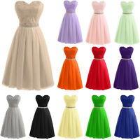 STOCK New Chiffon Formal Prom Party Ball Short Bridesmaid Evening Dress Size6-18