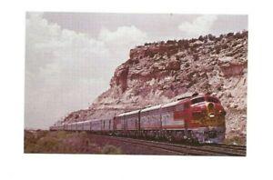 Railroad Postcard Santa Fe Streamliner The Chief Valentine AZ 3605