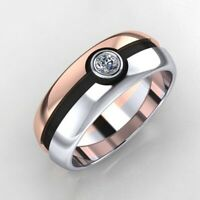 Cute Pokemon Pokeball Rings Rose Gold&Silver Plated Two Tone Rings Jewelry Gifts