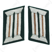 German Officer Collar Tabs Copper Brown - WW2 Repro German Recon Badge Patch New