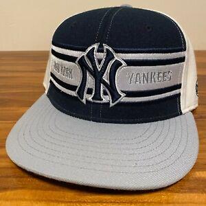 New York Yankees Hat Baseball Cap Fitted 7 1/4 American Needle Blue Retro Mens