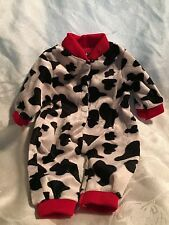 "Doll Clothes-Black/White/Red fleece PJs fits American Girl/Springfield/18"" doll"