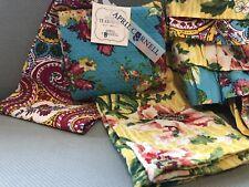 April Cornell Paisley Floral Tea Towels Cotton Dishtowels & Matching Apron New
