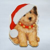 New Gibson Greeting Cards Set of 8 Puppy Wearing Santa Hat Unused