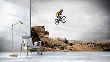 3D Cycling Utah A77 Transport Wallpaper Mural Self-adhesive Removable Zoe