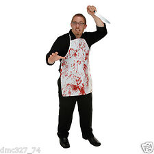 HALLOWEEN Costume Accessory Party Prop Zombie Murder Dexter BLOODY BUTCHER APRON